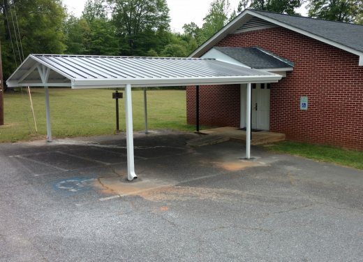 Attached carport for handicap parking near Greenville SC