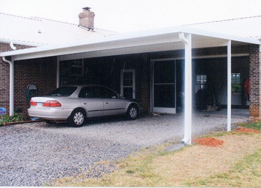Attached carport near Greenwood, SC.