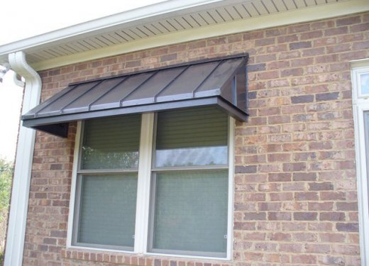 Bronze standing seam awning near Greenville, SC