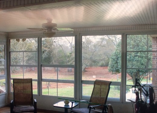 Eze-Breeze 4 track vinyl pane window room white Hartwell, GA
