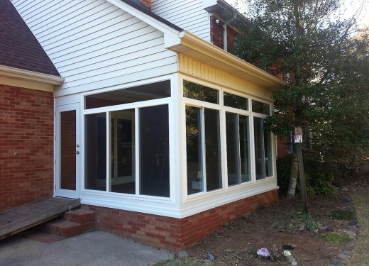 Glass enclosed porch near Simpsonville, SC