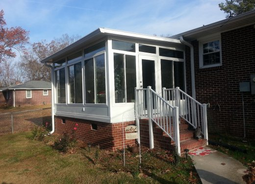 Sunroom with insulated panel roof near Anderson sc