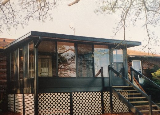 Bronze glassroom on insulated aluminum deck