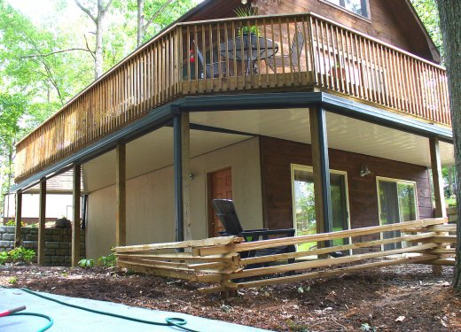 Underdeck system near Lake Hartwell in Anderson, SC